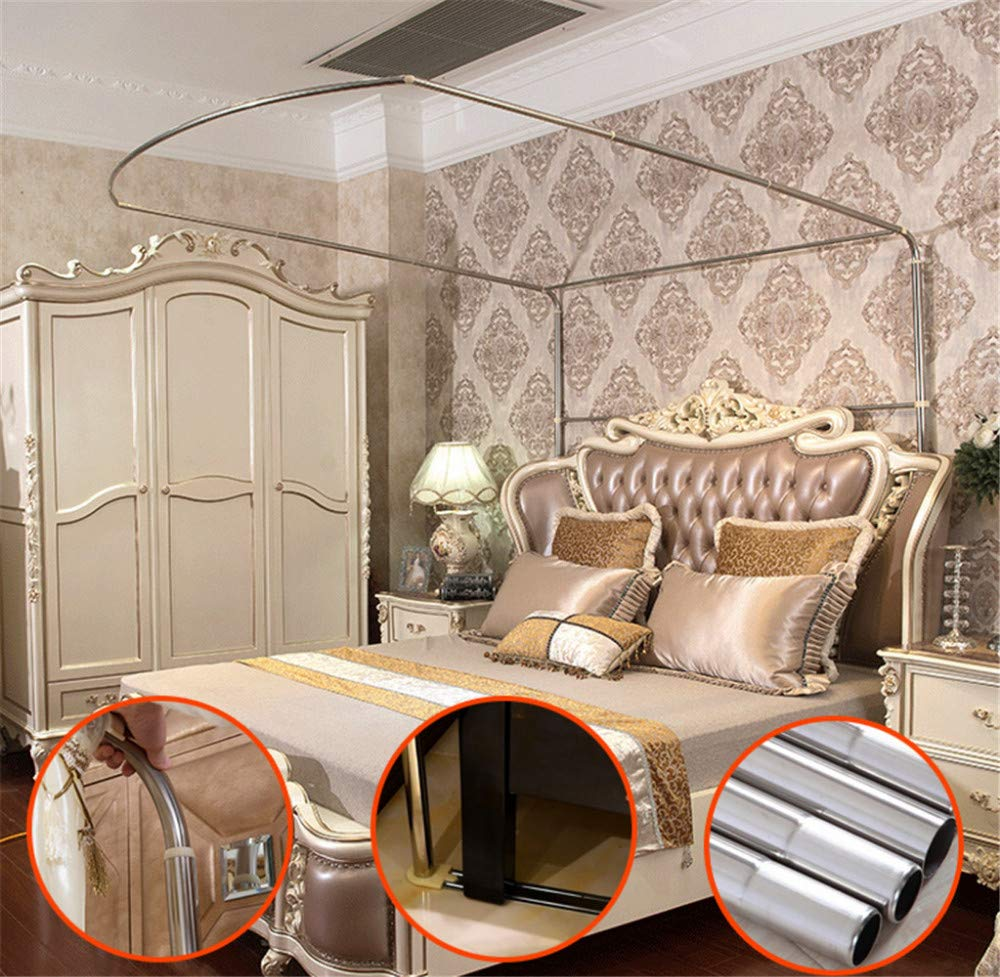 Mosquito net Indoor Mosquito net Outdoor Mosquito net Travel Mosquito net Anti-Mosquito Insect net Palace Mosquito net Bedroom Decoration, Gray, L (87-210Adjustment) W150cm by RFVBNM Mosquito net (Image #3)