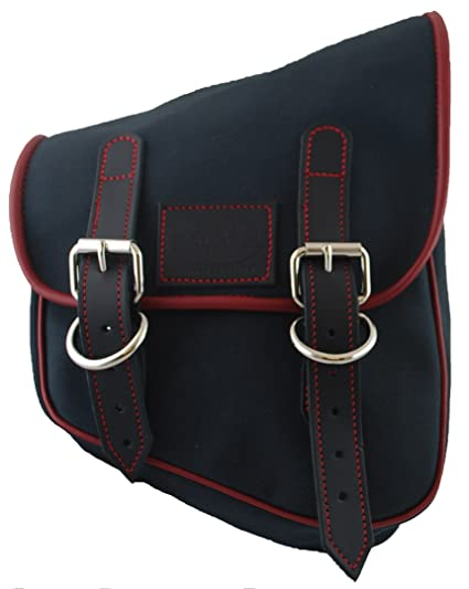 58f2fb677457 Amazon.com  La Rosa Design Harley-Davidson All Softail and Rigid Frames  Eliminator Canvas Right Side Saddle Bag - Black with Red Stitching   Automotive
