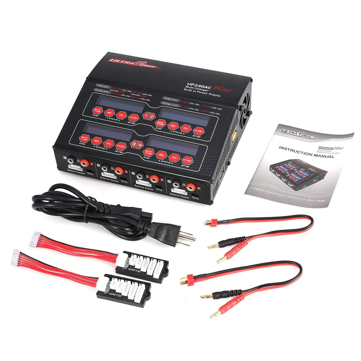Saikogoods ドローン IMAX B6 80W 6AリポRCモデルのバッテリーブラック米国のための15V / 6A AC / DCアダプター付きニッケル水素リチウムイオンニッカドRCバランスチャージャー10W 2A放電器 B07MXJD3CC