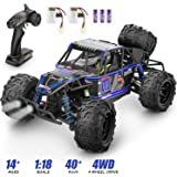 Remote Control Car,1:18 Scale RC Racing High Speed Car,2.4GHz RC Road Monster Truck Included 2 Rechargeable Batteries,4WD All Terrains Waterproof Drift Off-Road Vehicle,Toy for Boys Teens Adults