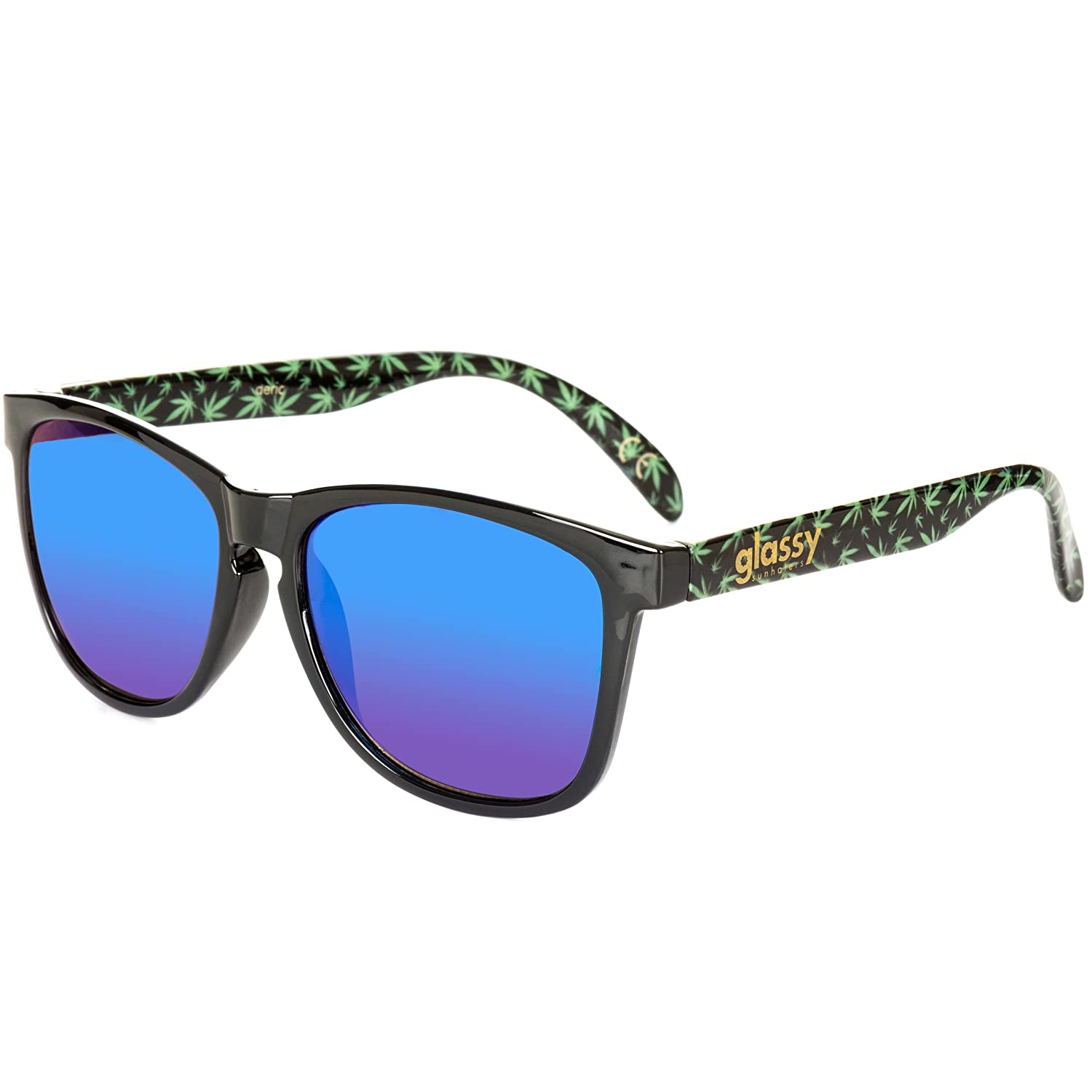 9f2b10f0837 Glassy Deric Kronik Sunhater Sunglasses Black Green Mirror Lens   Amazon.co.uk  Clothing