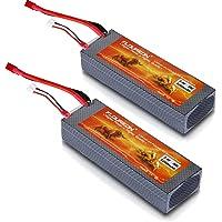 2-Pack FLOUREON 2S Lipo Battery