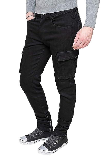 Evoga - Pantalones Vaqueros de algodón con Bolsillos ...