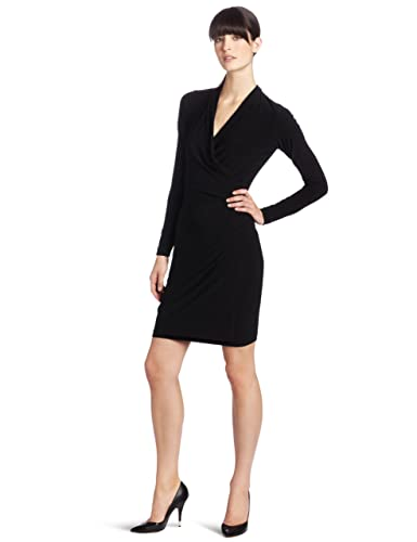 KAMALIKULTURE Women's Long-Sleeve Side-Draped Dress