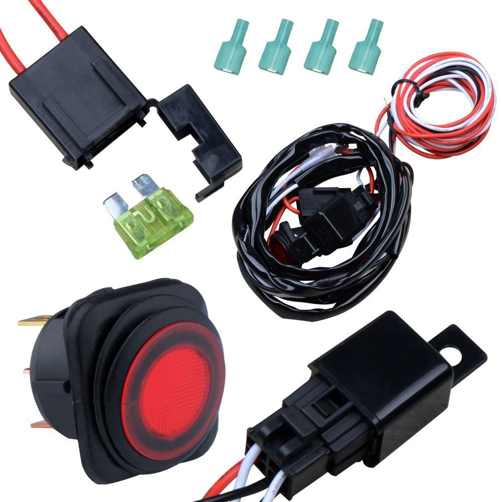 nilight off road atv jeep led light bar wiring harness kit v a up for nilight off road atv jeep led light bar wiring harness kit 12v 40a relay on off switch one year replacement