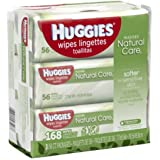Natural Care Baby Wipes, Sensitive, 3 packs of 56 (168 ct)