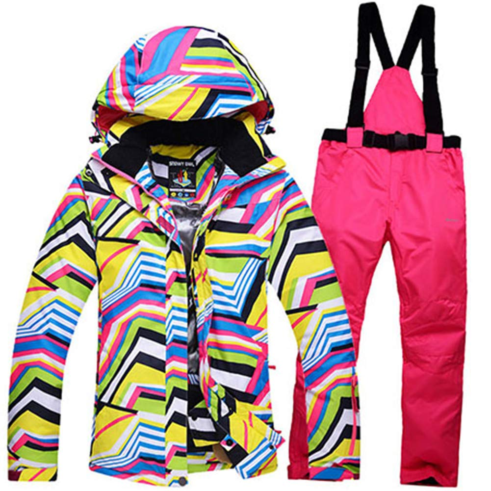 3 Ski Suits Women's Jacket with Pants Snowboard Clothes Snowboard Ski Sports Female Ski Suit Waterproof Windproof Breathable