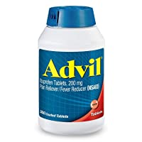 Advil Pain Reliever/Fever Reducer, 200mg Ibuprofen pos3re Pack of 1 Pack (360 ct Each)