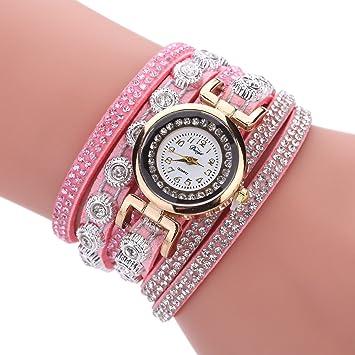 nacola pulsera multicapa para mujer relojes, imitación de piel Casual reloj de reloj reloj de