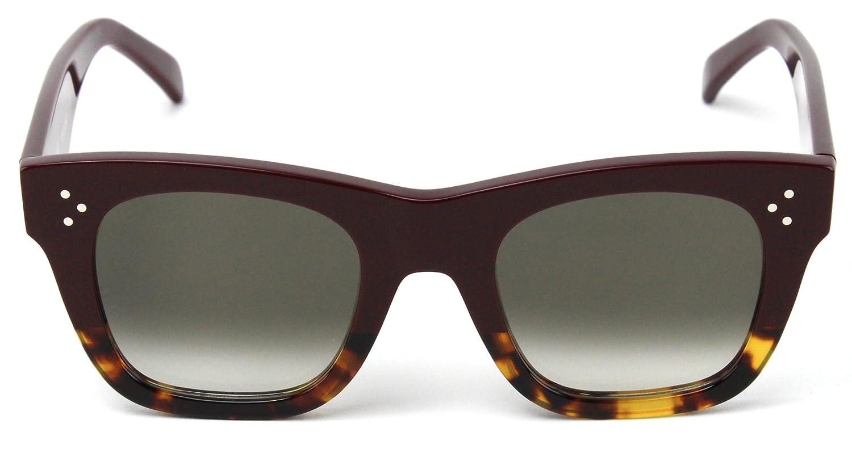 d51f746f705 Celine 41089 S Sunglasses Burgundy Havana Frame   Brown Gradient Lens  (0AEV)  Amazon.ca  Clothing   Accessories