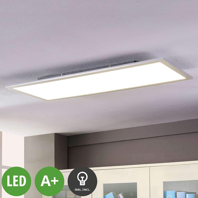 LED Lámpara de techo 'Livel' (Moderno) en Blanco hecho de Plástico e.o. para Cocina (1 llama, A+) de LAMPENWELT| lámpara LED, plafón LED, lámpara de techo