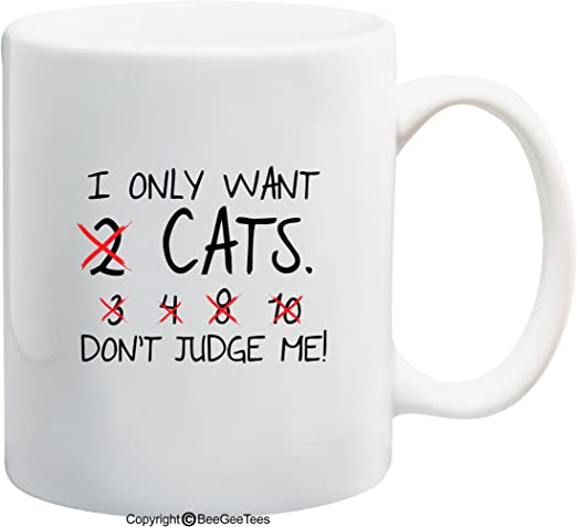 Funny Christmas Cat Coffee Mug For Lovers Have A Nice Day Cute W Middle Finger B