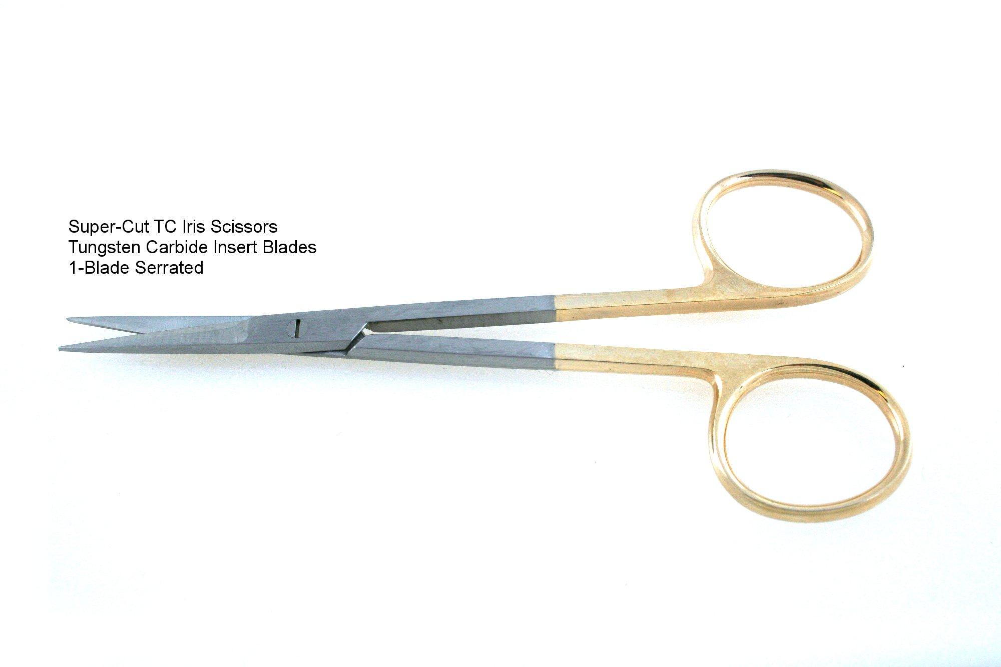 Super-Cut TC Iris Scissors 4.5'' Straight Sharp Sharp Points SurgicalExcel by SurgicalExcel