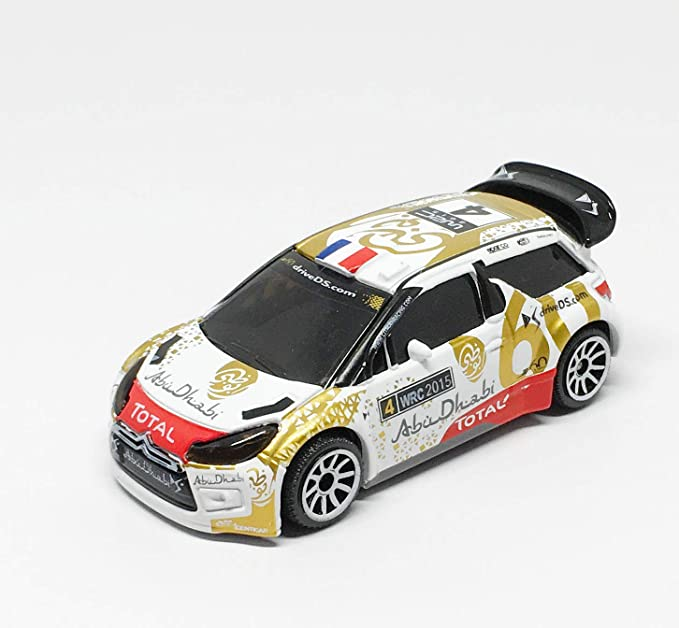Majorette Citroen DS3 WRC Set of 3  no.1 no.3 no.4 Scale 1//58
