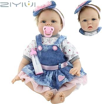 ZIYIUI Realistica 55 cm Bambola Reborn Bambina Bambole Reborn