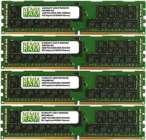 128GB 4x32GB DDR4-2933 PC4-23400 RDIMM Memory for Apple Mac Pro Rack 2020 MacPro 7,1 by NEMIX RAM