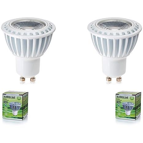 GU10 LED, kobos de LED® Pack De 2, 3 W, equivale a halógeno de 35 W lámpara, bombilla ...