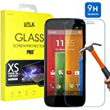 Moto G Tempered Glass Screen Protector,Motorola Moto G (1st Gen.) Screen Protector,UTLK HD Clear 9H Hardness 2.5D Round Edge Ballistic Glass Screen Protector Max Touch Accuracy