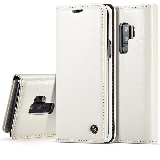 3b3e3fea1613 Galaxy S9 Plus Folio PU Leather Card Slot Stand Slim Flip Wallet Protective  Case