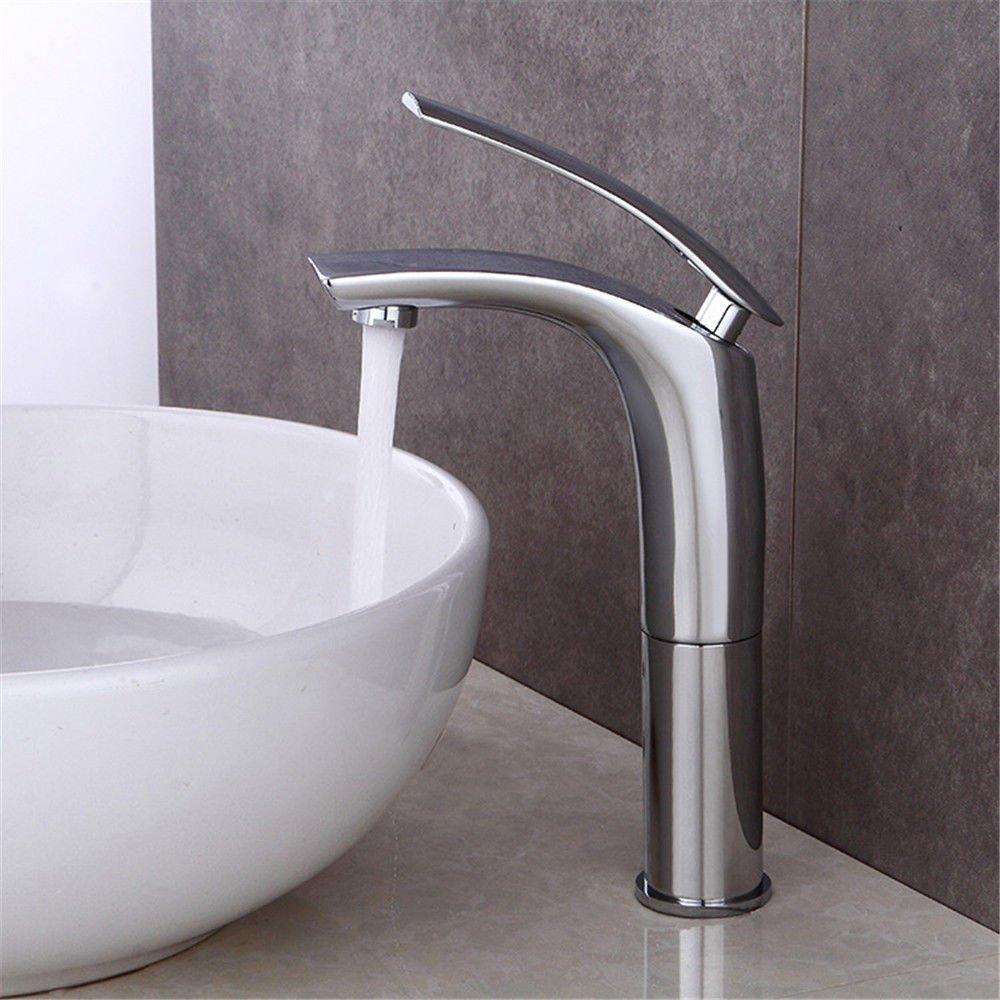 NewBorn Faucet Wasserhähne Wasserhähne Wasserhähne Warmes und Kaltes Wasser Guter Qualität Alle Kupfer Einloch Waschbecken Waschtisch mit rückfahr Sit-In auf der Wash-Basin Waschbecken Mischbatterie Wasserhahn 68b8b7