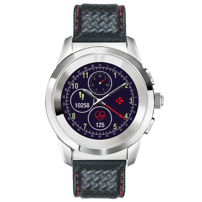 MyKronoz ZeTime Premium Reloj Inteligente híbrido 44mm con Agujas mecánicas sobre una Pantalla a Color táctil: Amazon.es: Electrónica