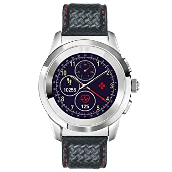 MyKronoz ZeTime Petite Premium Hybrid Smartwatch 39mm with Mechanical Hands Over a Color Touch Screen, Swiss Design, iOS and Android – Polished ...
