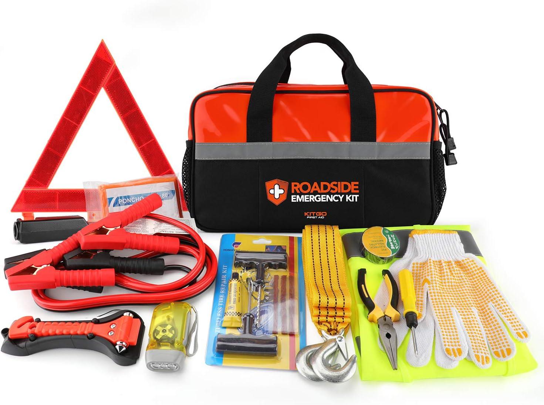 AutoClubHero Premium Car Emergency Survival Kit 185-Pieces for Car Survival /& Roadside Assistance