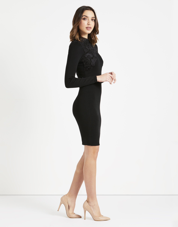 LIPSY Womens Lace Appliquà Dress Black US 10 (UK 14) by LIPSY (Image #4)