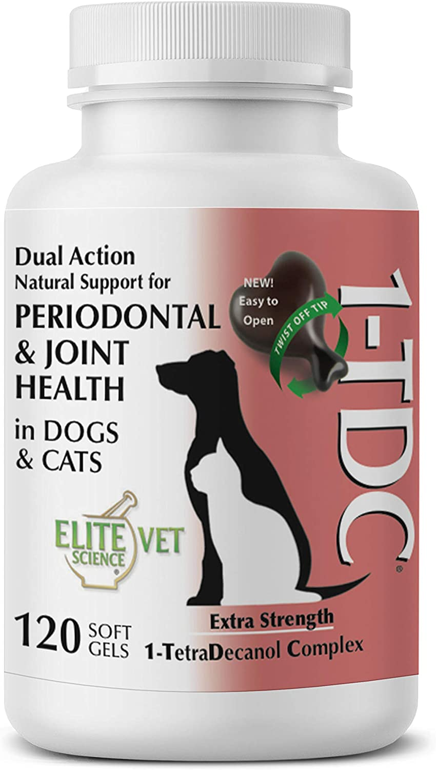 1TDC Dual Action Natural Support – Twist Off Soft Gels – Delivers 4 Major Health Benefits for Dogs & Cats – Supports Oral Health, Hip & Joint Health, Muscle & Stamina Recovery, Skin & Coat Health 71UAjEECCML
