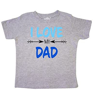 9bbb45ef inktastic - I Love My Dad Fathers Day Toddler T-Shirt 2T Heather Grey 29a69