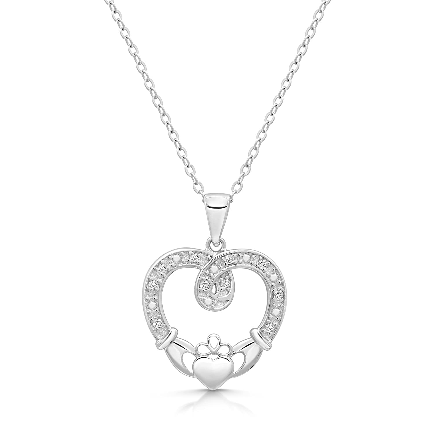 sterling shop company landing claddagh cp ss silver necklace