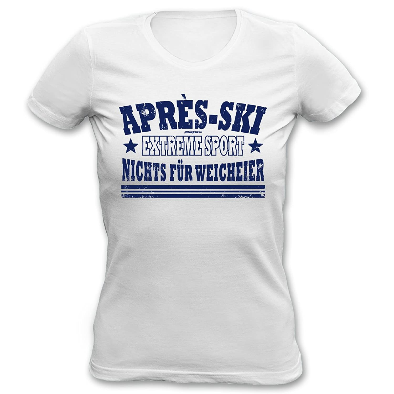 Cooles Winter Damen Shirt / Apres Ski Outfit : Extreme Sport nichts für Weicheier -- Goodman Design -- Wintermotiv T-Shirt