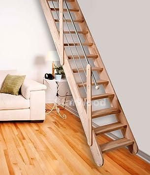 Ahorro de espacio escalera/madera escalera de madera de haya Samos ...