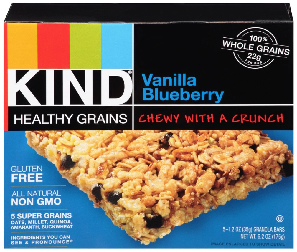 Kind Healthy Grains Bar, Vanilla Blueberry, 5 Bars (Pack of 8)