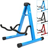 H&S® Colourful Universal Folding A-Frame Electric Acoustic Bass Guitar Floor Stand Holder (Blue)