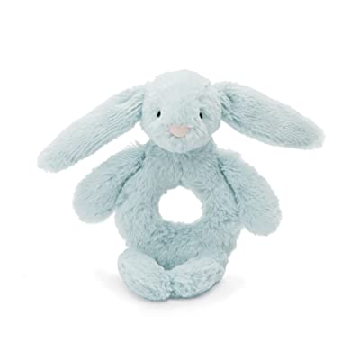 Jellycat Bashful Beau Bunny Soft Plush Baby Toy Ring Rattle: Toys & Games