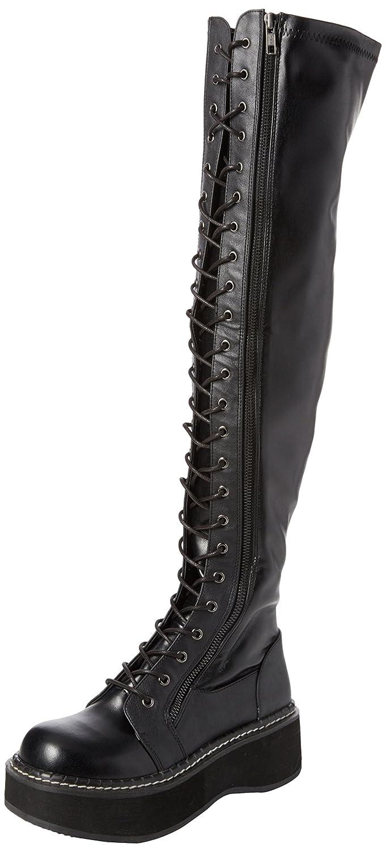 Demonia Women's Emily-375 Over The Knee Boot B01MQVN34C 11 B(M) US Black Str Vegan Leather