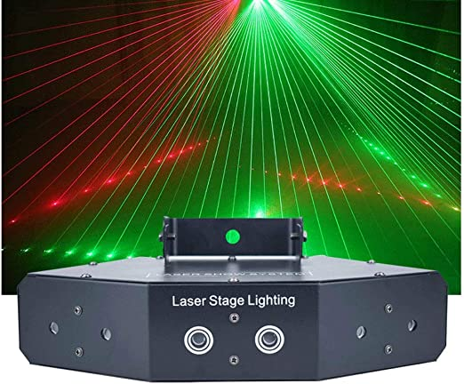 6 Channel LED Disco Lights Sound Activated Stage Lighting 50W RGBW DMX 512 with Remote Controller for Indoor Home Parties 614 Disco Lights