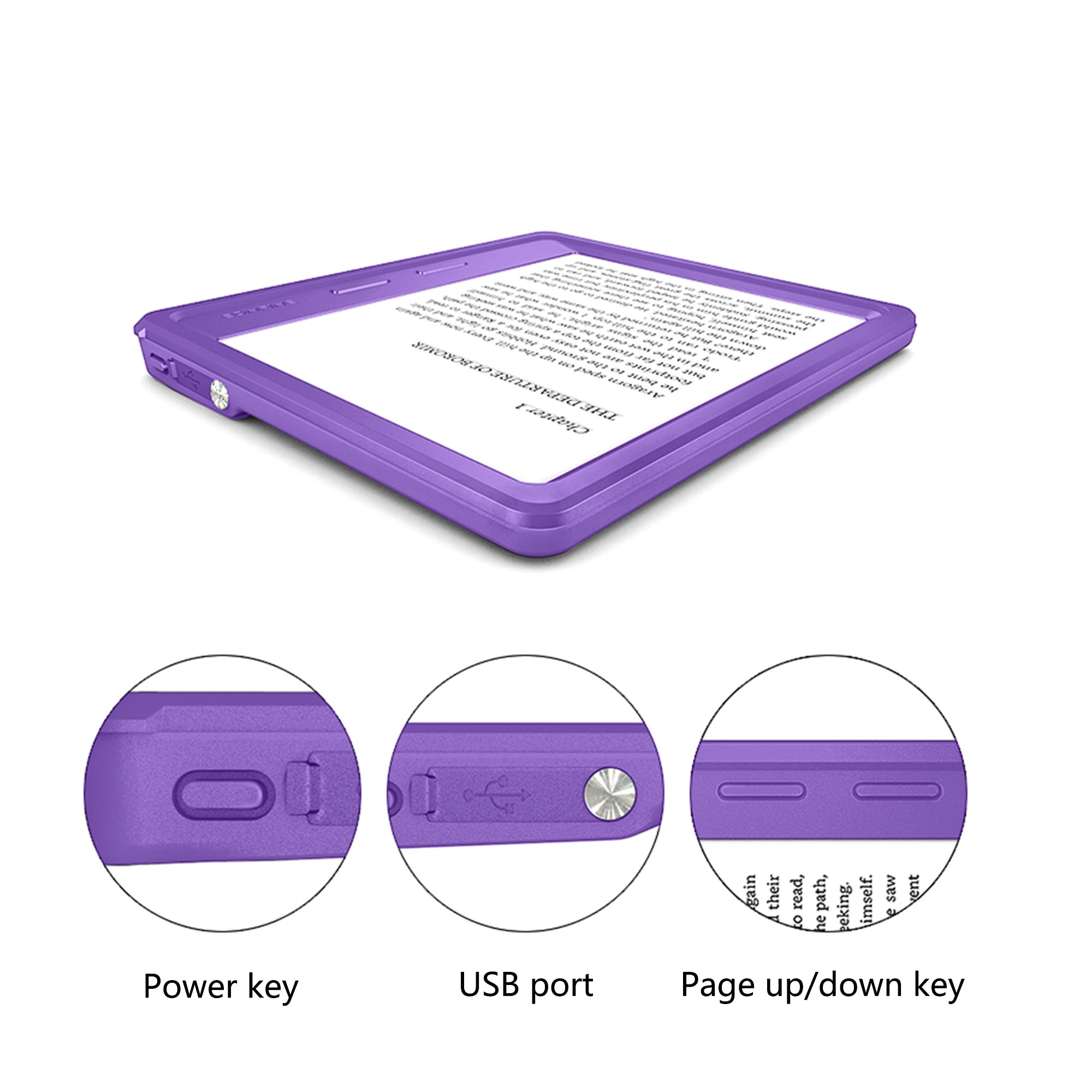 QTKJ Waterproof Case for Oasis, High Seismic Resistance Anti-Dust Soft Armor Tablet Shell Waterproof Case (Purple)