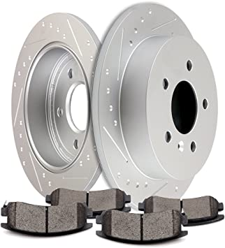 2010 2011 for Chevrolet Impala Brake Rotors and Ceramic Pads Rear