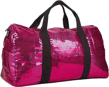 Sequin Fashion Duffle Bag Hot Pink