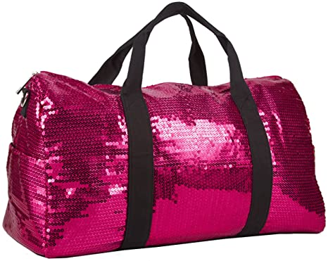 3ae4ded3f5ca Image Unavailable. Image not available for. Color  Sequin Fashion Duffle  Bag Hot Pink