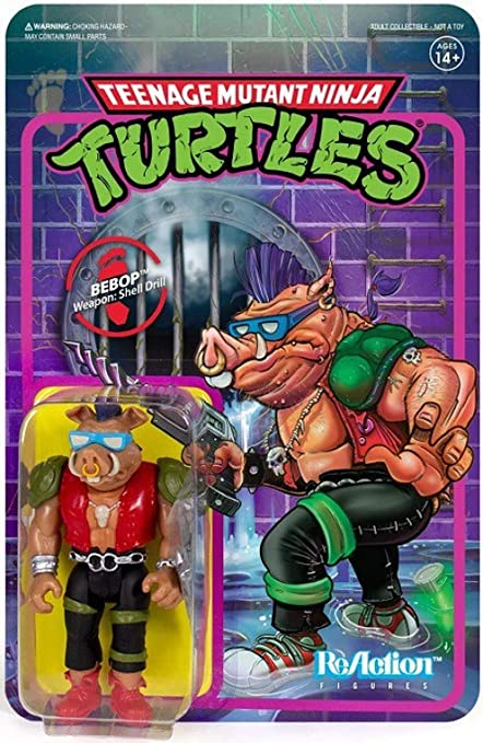 Super 7 Teenage Mutant Ninja Turtles Rocksteady ReAction Figure Neuf Scellé Teenage Mutant Ninja Turtles