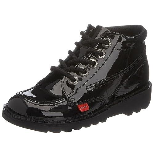 Kickers Kick Boot - Botas Unisex niños, Black/black, 35 EU