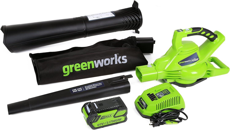 Greenworks DigiPro无刷40伏无绳叶片鼓风机/真空吸尘器