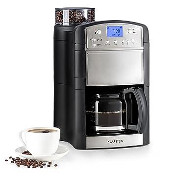 Klarstein Aromatica O Kaffeemaschine Mit Mahlwerk Filtermaschine Edelstahl Optik Drei Aromagrade