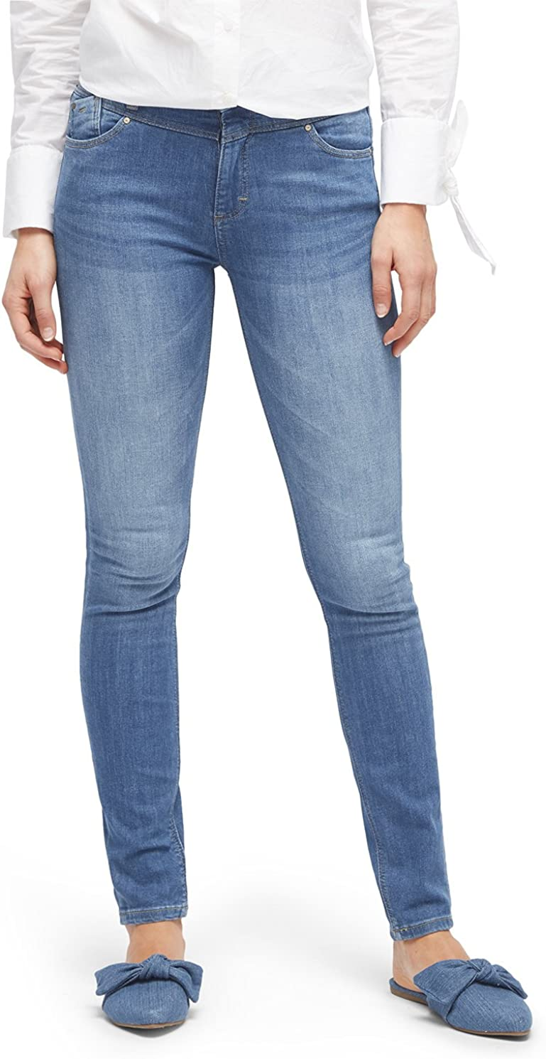 TOM TAILOR Damen Kate Bright Blue Skinny Jeans Blau (Brigth Blue Denim 1302)