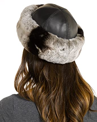 The Kaylee Rex Rabbit Cuff Hat in Chinchilla Grey - M at Amazon Women s  Clothing store  589957798abc