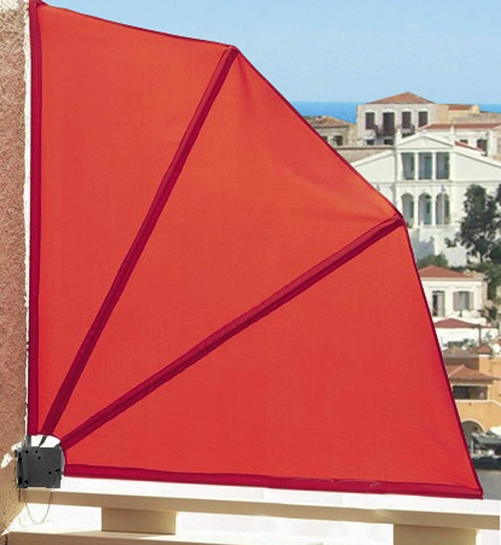 Amazon De Quick Star Sichtschutz Facher 115 X 115 Cm Stoff Balkon