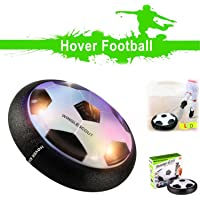 WINGLESCOUT Air Power Football pour Enfant,Ballon aeroglisseur pour Jeu Garcon 7 Ans,Jouet Enfant Hover Football,Ballon Air Power Cadeau de Noël Hover Ball avec éclairage LED coloré